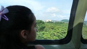 Al fondo las Esclusas de Miraflores